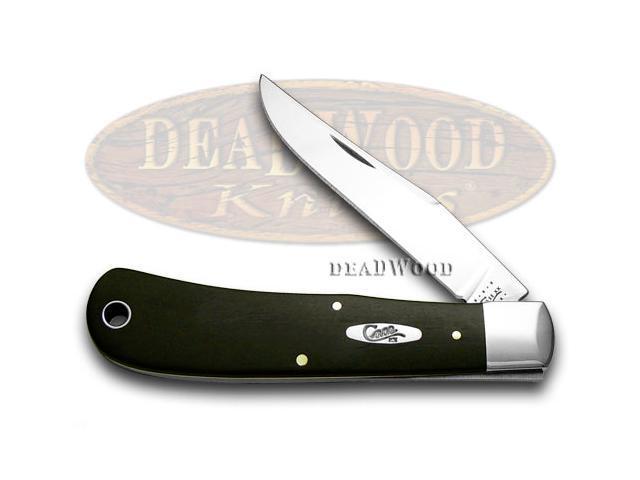 CASE XX Black Ebony Wood Backpocket Knife Knives
