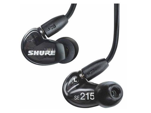 Shure SE215 Sound Isolating In-Ear DJ Monitoring Earbuds/Ea?rphones Black