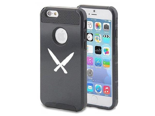apple iphone 6 6s shockproof impact hard case cover chef knives black. Black Bedroom Furniture Sets. Home Design Ideas