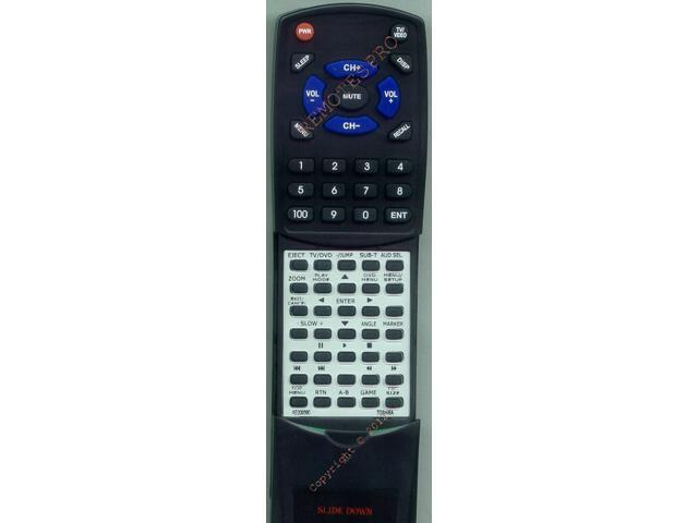 TOSHIBA Replacement Remote Control for 19LV61K, 22LV506, 22LV50K, 19LV610U, 22LV610U