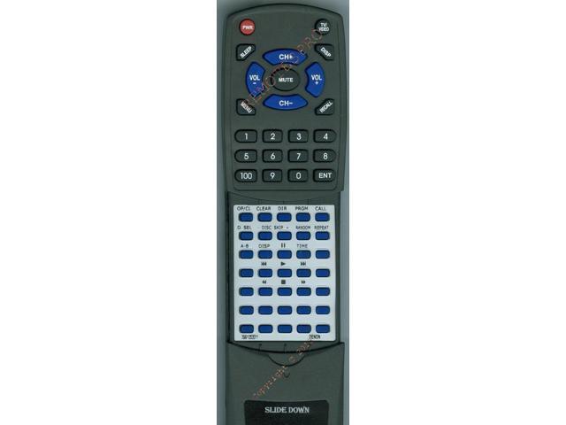 DENON Replacement Remote Control for DCM290, RC1033 SILVER, 3991053011