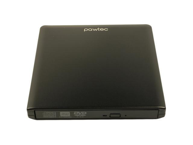 Pawtec External USB 3.0 Aluminum 8X DVD-RW Writer Optical Drive - Black