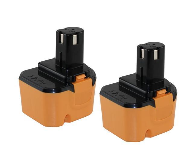 12 Volt Ryobi 1400652B 2000mAh NiCad Powertool Battery - Powerwarehouse Professional Grade 2-Pack High Capacity Battery