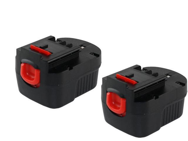 12 Volt Black & Decker DW991KC-2 1500mAh NiCad Powertool Battery - Powerwarehouse Professional Grade 2-Pack High Capacity Battery