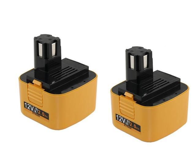 12 Volt NiCad Panasonic EY6902NQKW Powertool Battery - Powerwarehouse Professional Grade 2-Pack High Capacity Battery