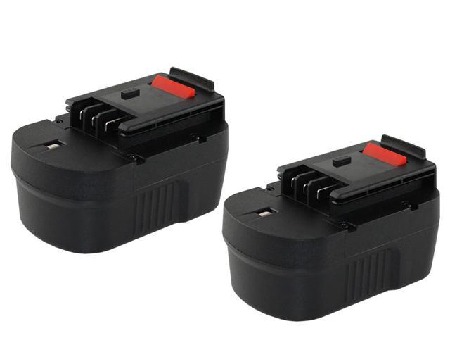 14 Volt Black & Decker KC2002FK 1500mAh NiCad Powertool Battery - Powerwarehouse Professional Grade 2-Pack High Capacity Battery