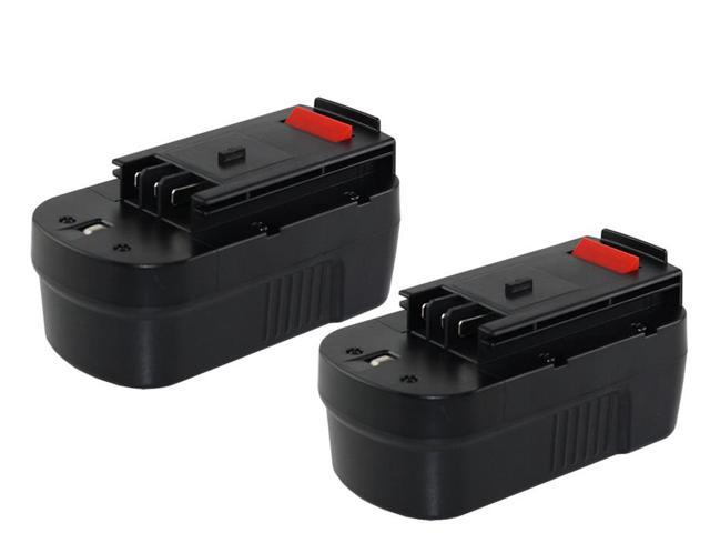 18 Volt NiCad Black & Decker PS182KB Powertool Battery - Powerwarehouse Professional Grade 2-Pack High Capacity Battery