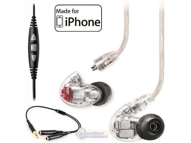Shure SE846 Quaud Driver Sound Isolating Earphones w/ CBL-M+-K Cable for iPhone