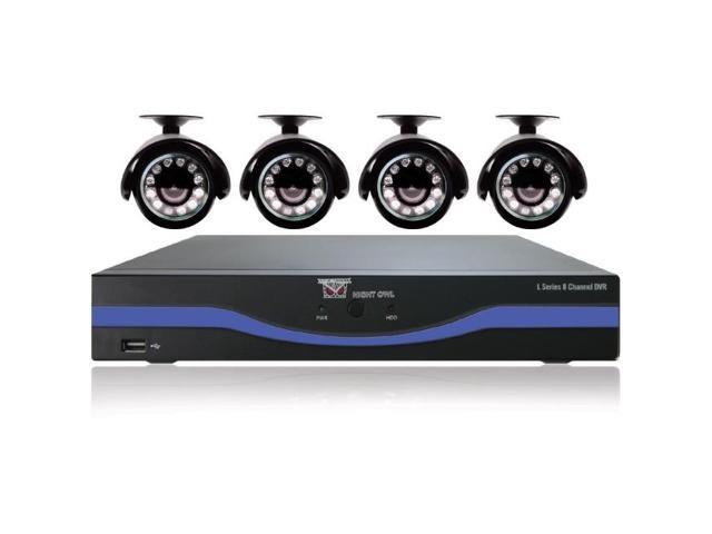 Night Owl Optics - L-85-4511 - 8-Channel L-Series 960H DVR with 500GB HDD, HDMI and 4 Night Vision Cameras