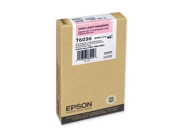 Epson - T603600 - Epson Vivid Light Magenta Ink Cartridge - Light Magenta - Inkjet