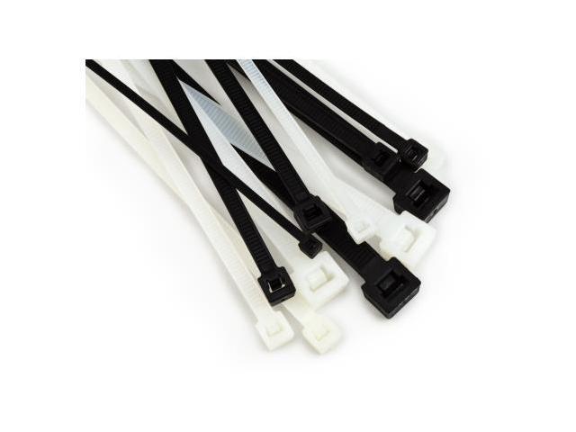 3m Cable Ties : M ct bk s black lb mount cable tie bag