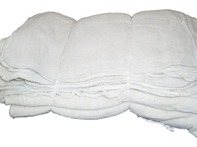 ATLAS BRAND 25 Pieces White Cotton Shop Towel Rags **Industrial Grade** for Automotive Car Industry
