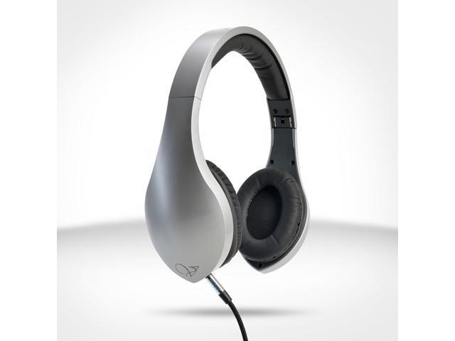 Velodyne vLeve On-Ear Headphones with Inline Mic & 3-Button Remote - Satin Silver