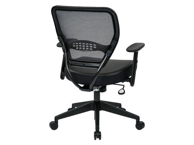 Beautiful Office Star 5700E   Space Seating Professional Dark Air Grid Back Managers  Chair With Black Eco