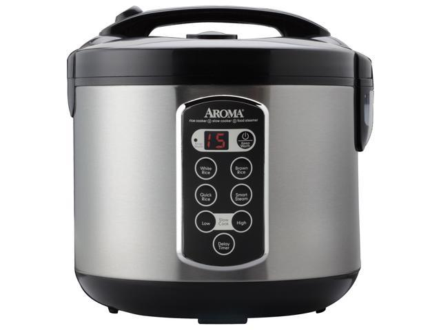 aroma arc 2000asb stainless steel professional 20 cup cooked digital cool touch rice cooker. Black Bedroom Furniture Sets. Home Design Ideas