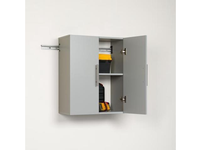 Prepac hangups 24 inch upper storage cabinet light grey for 24 inch upper kitchen cabinets