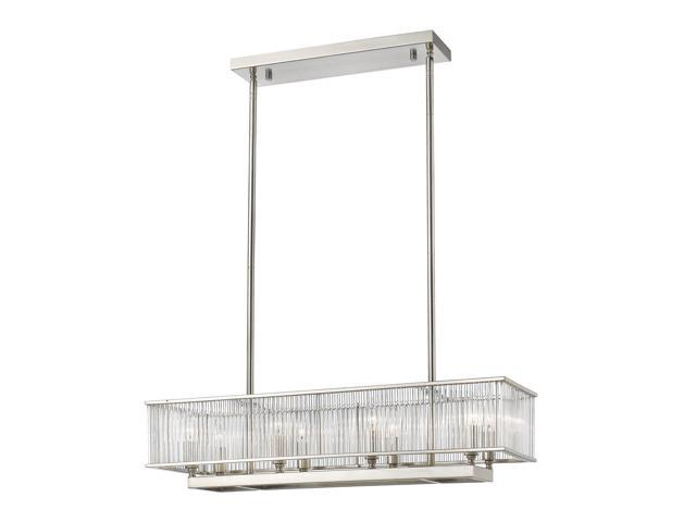 Z-Lite 8 Light Pendant, Brushed Nickel - 1000-32BN NEW