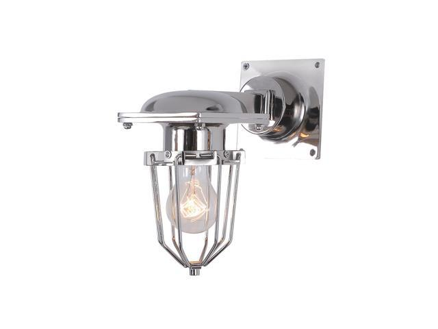 Elegant Lighting 1451 Kingston Collection Wall Lamp W-9in H-9.5in E-5in Lt-1 Chrome Finish-1451W9C