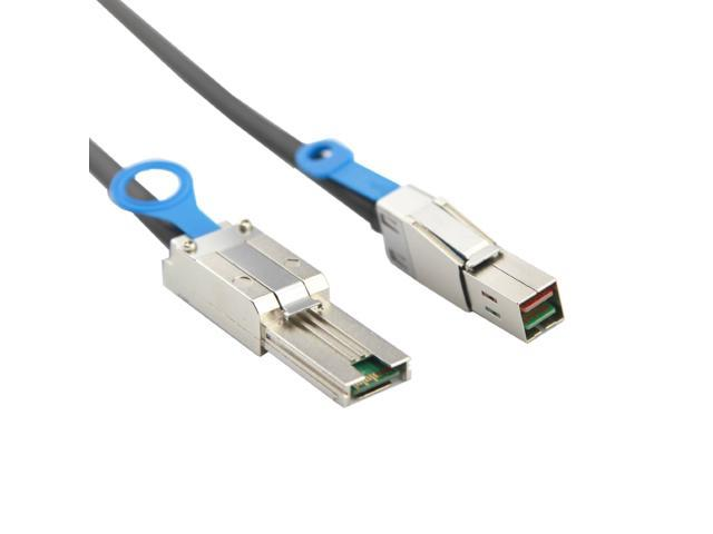 Smays (SFF-8088 to SFF-8644) External Mini SAS 4x SFF-8088 to High Density HD SFF-8644 Data Server RAID Cable -2M -6Gbps