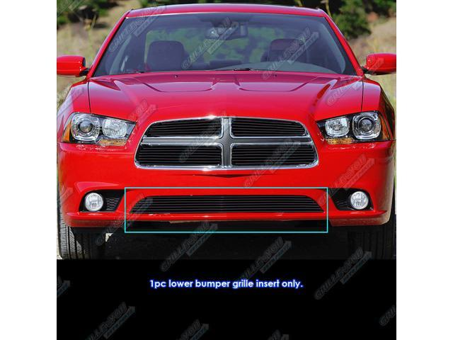 fits 2011 2014 dodge charger black bumper billet grille. Black Bedroom Furniture Sets. Home Design Ideas