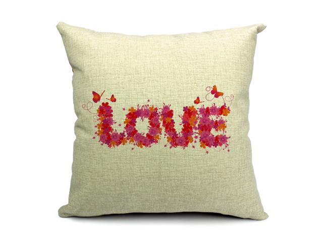 Decorative Throw Pillows With Words : Fashion Home Decorative Cushion Cover LOVE Hearts Words Lip Throw Pillow Case 45X45CM - Newegg.com
