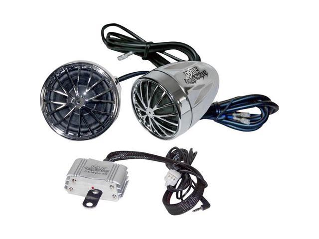 Motorcycle-Mount 400-Watt Sound System With Dual Speakers