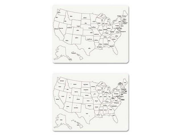 Creativity Street TwoSide US Map Whiteboard CKC Neweggcom - Us map whiteboard