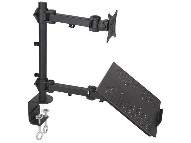 Dual Mount for 1 Laptop 1 LCD