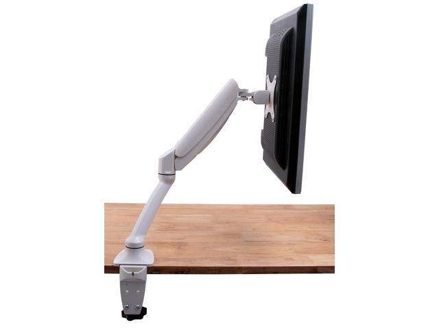 VIVO Single LCD Monitor Desk Mount Stand White Deluxe Gas Spring 1 Screen up to 24