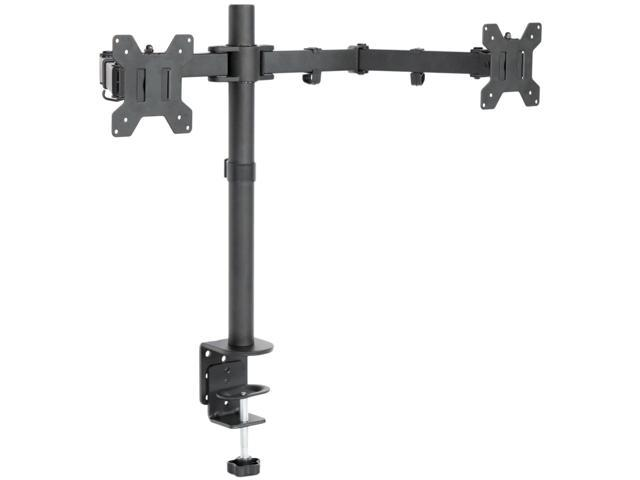 Dual LCD Monitor Desk Mount Stand Heavy Duty Fully Adjustable 2 Screens upto 27""