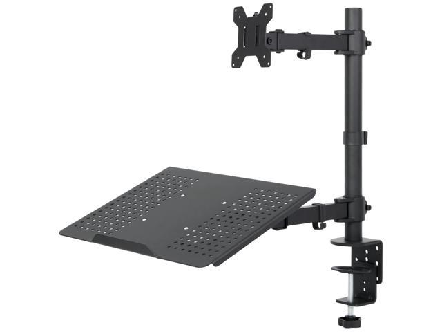"""Laptop & LCD Monitor Desk Mount Stand Black Adjustable fits 1 Screen up to 24"""""""