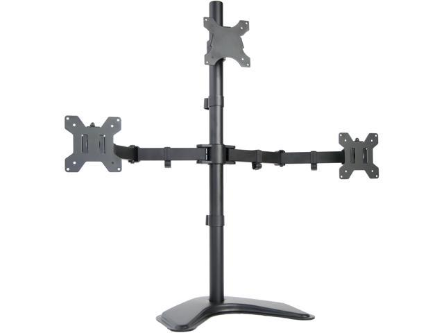 Triple Lcd Monitor Stand Desk Mount Free Standing Heavy
