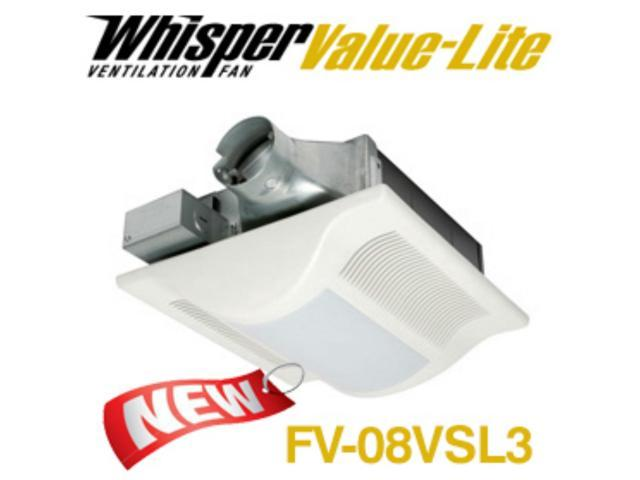Panasonic fans whispervalue fv 08vsl3 bathroom exhaust - Ductless bathroom exhaust fan with light ...