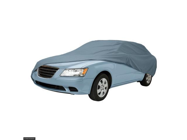 The Classic Accessories Overdrive Polypro 3 Car Cover In Charcoal For Mid Size Cars- 10-013-251001-00