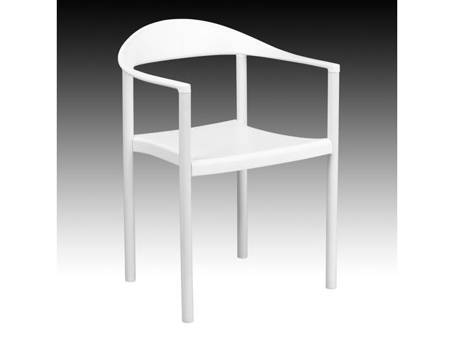 Flash Furniture HERCULES Series Multipurpose White Plastic Cafe Stack Chair 500 lb. Capacity