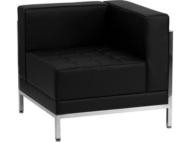 Imagination Series Black Leather Right Corner Chair by Flash Furniture
