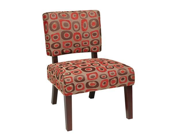 office star jasmine accent chair in twilight red