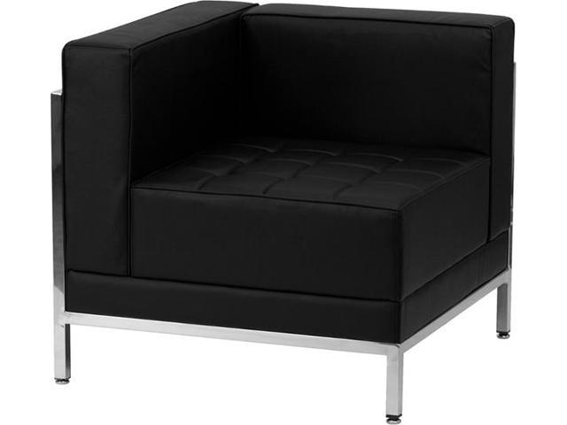 Imagination Series Black Leather Left Corner Chair by Flash Furniture