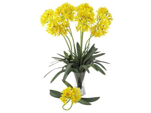 "Nearly Natural 2129-YL  Yellow 29"" African Lily Stem (Set of 12)"