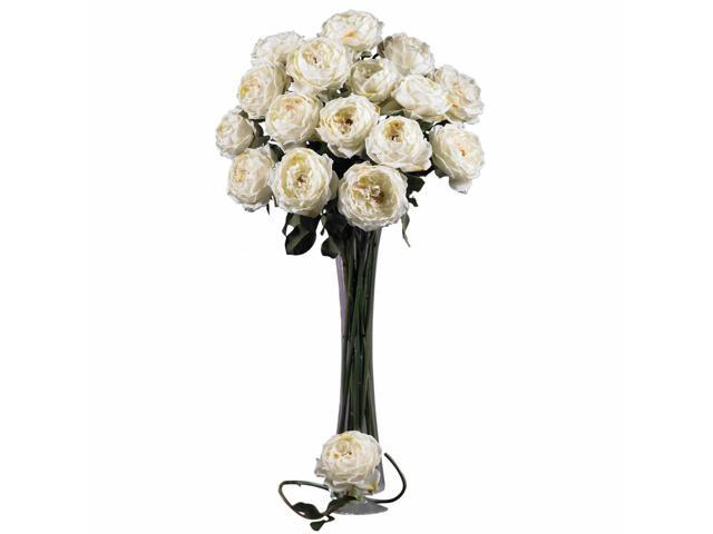 """Nearly Natural 2127-WH  White 31"""" Large Rose Stem (Set of 12)"""