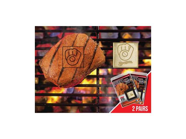 Fanmats 13166 MLB - Milwaukee Brewers Fanbrand 2 Pack 2 in. x 2 in.