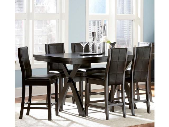 Homelegance rigby 7 piece counter height dining room set w for 7 piece dining room set counter height