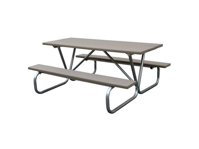 Eagle one 6 ft greenwood picnic table metal base in for 10 ft picnic table