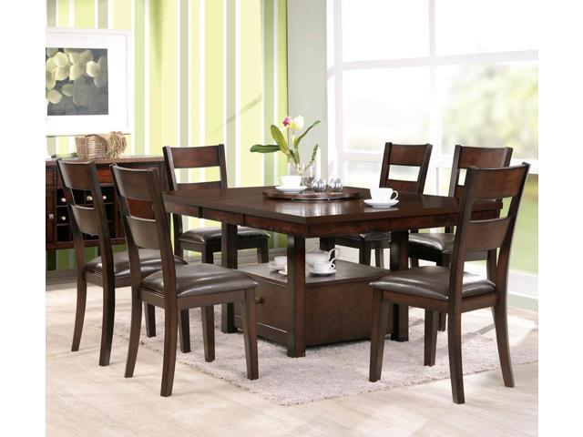 gibson 8 piece dining room set w ladderback chairs