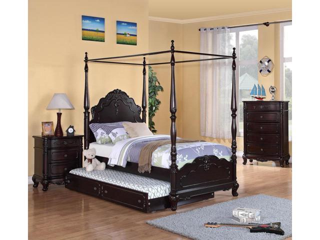 Homelegance Cinderella 3 Piece Canopy Poster Bedroom Set