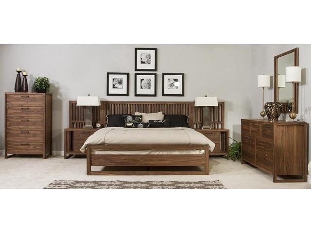 ligna tribeca collection 4 piece bedroom set in graphite