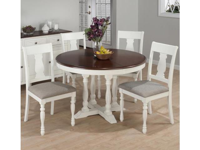 48 chesterfield tavern 5 piece round butterfly leaf dining room set