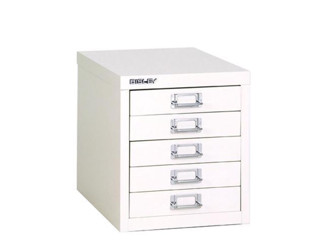 bisley 5 drawer desktop multidrawer cabinet in white steel