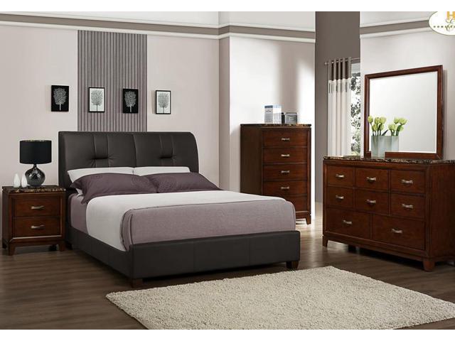Homelegance Bleeker 5 Piece Upholstered Platform Bedroom