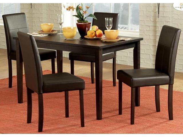 homelegance dover 5 piece rectangular dining room set in